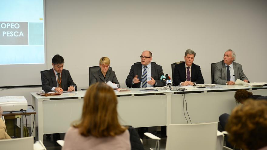 Andrés Hermida en la presentación del Fondo Europeo Marítimo y de Pesca