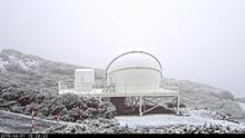 Nueva nevada en las cumbres de La Palma este lunes