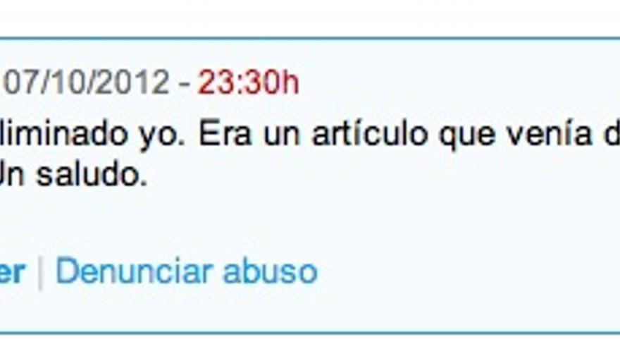 Explicación de Ignacio Escolar en los comentarios de eldiario.es