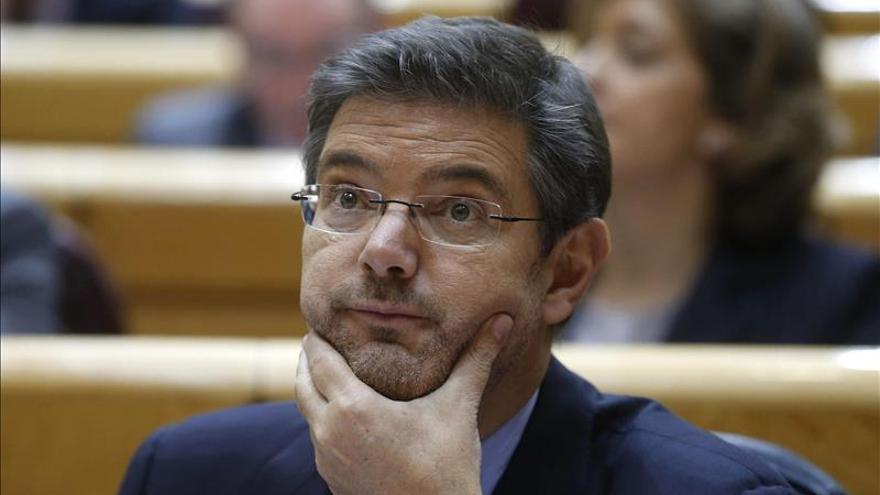 Catalá defiende en el Senado la independencia de los poderes del Estado