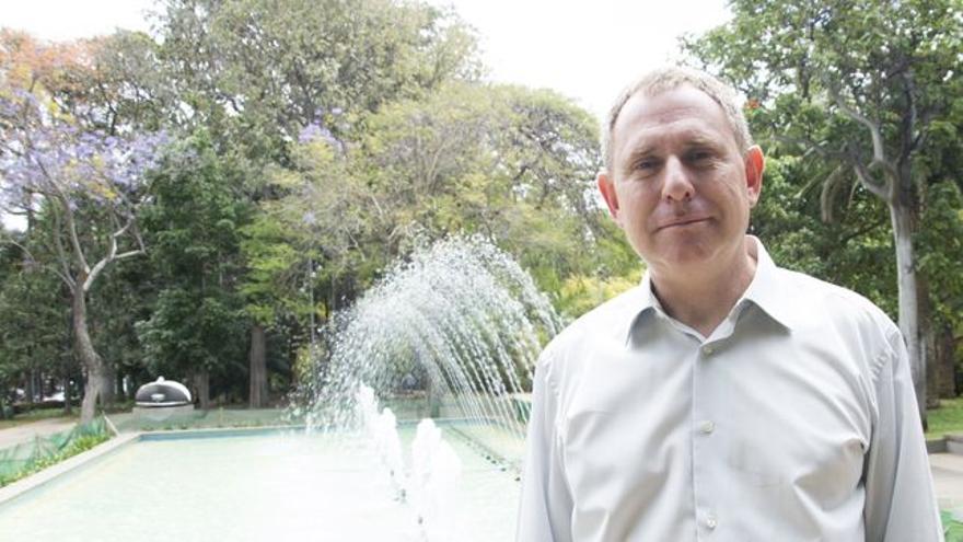 Fernando Sabaté, en un retrato hecho en el parque García Sanabria de Santa Cruz