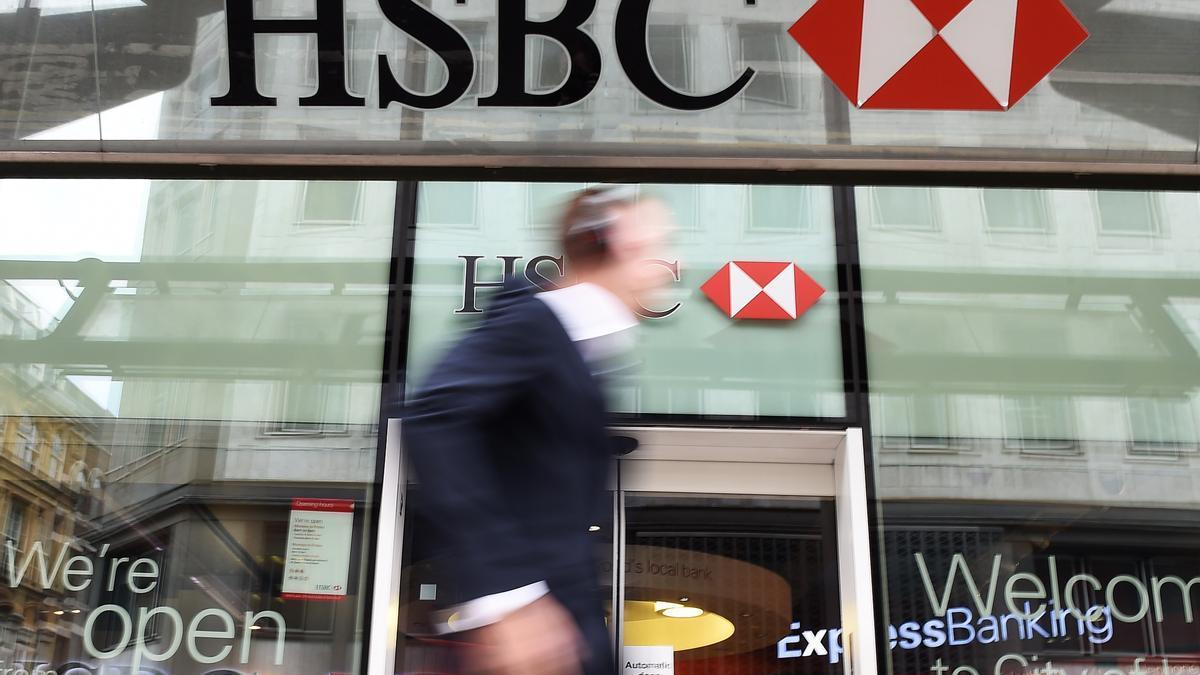 La sede del banco HSBC, en Londres, Reino Unido.