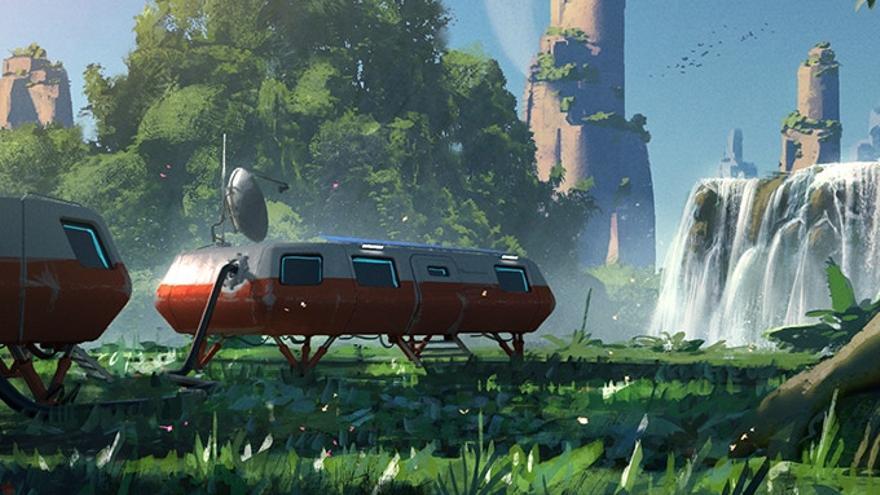 El diseño de un puesto espacial que estará disponible para intercambiar objetos conseguidos en misiones