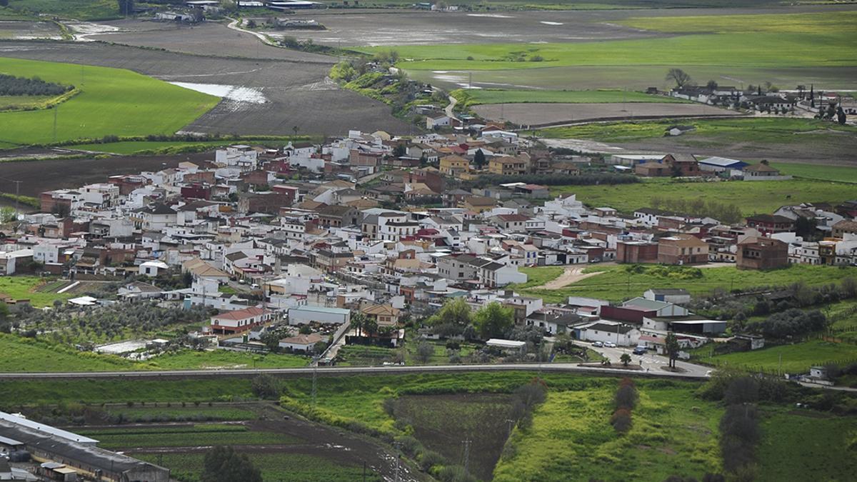 Vista aérea de la barriada de Alcolea