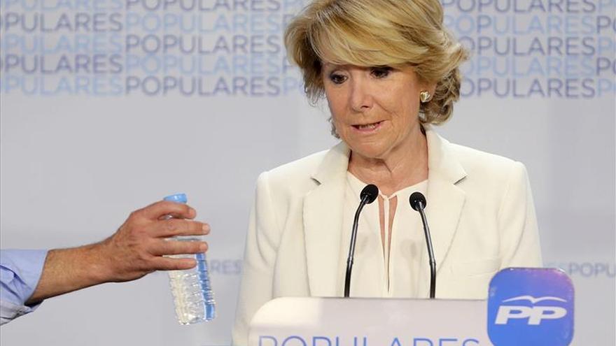 Aguirre anuncia reformas y cambios sin límites en el PP tras su mal resultado