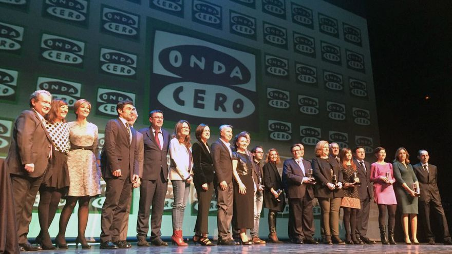 Los premiados en la XVI gala de Onda Cero Valencia 'Valencianos en la Onda'
