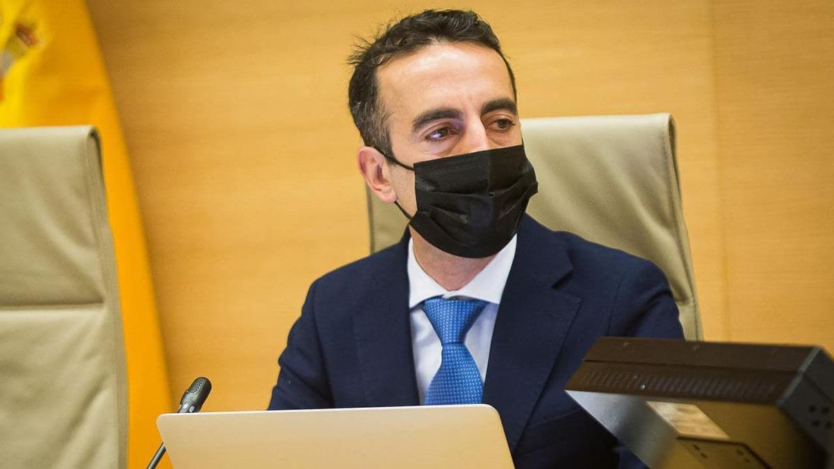 El magistrado Manuel Ruiz de Lara, durante su comparecencia en el Congreso.