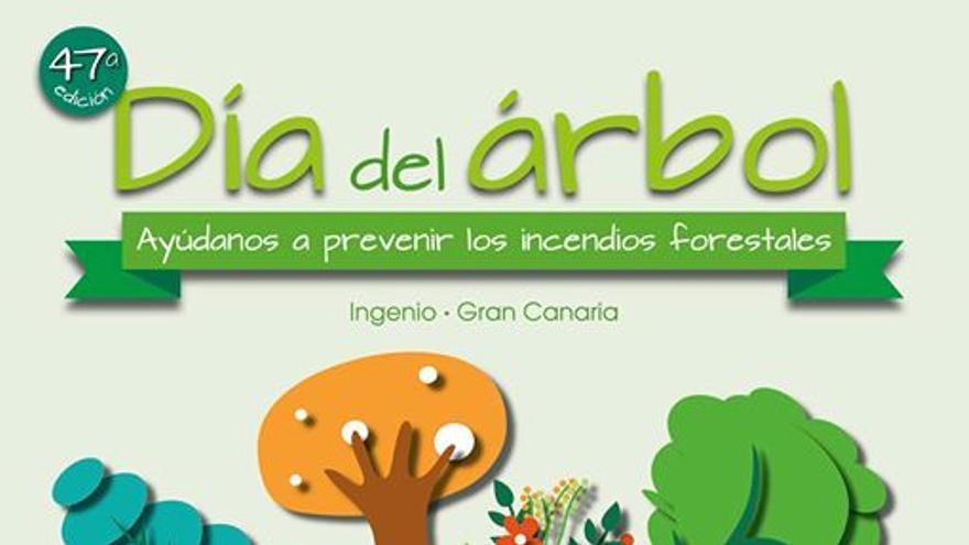 Cartel del Día del Árbol