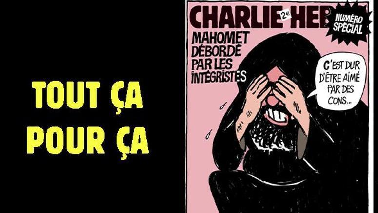 Caricaturas del último número de Charlie Hebdo