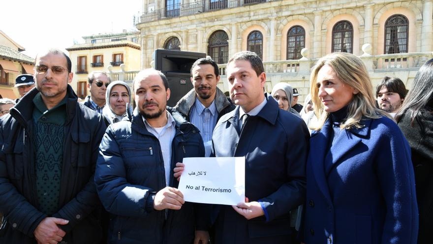 Page junto al presidente de la Comunidad Islámica de Toledo