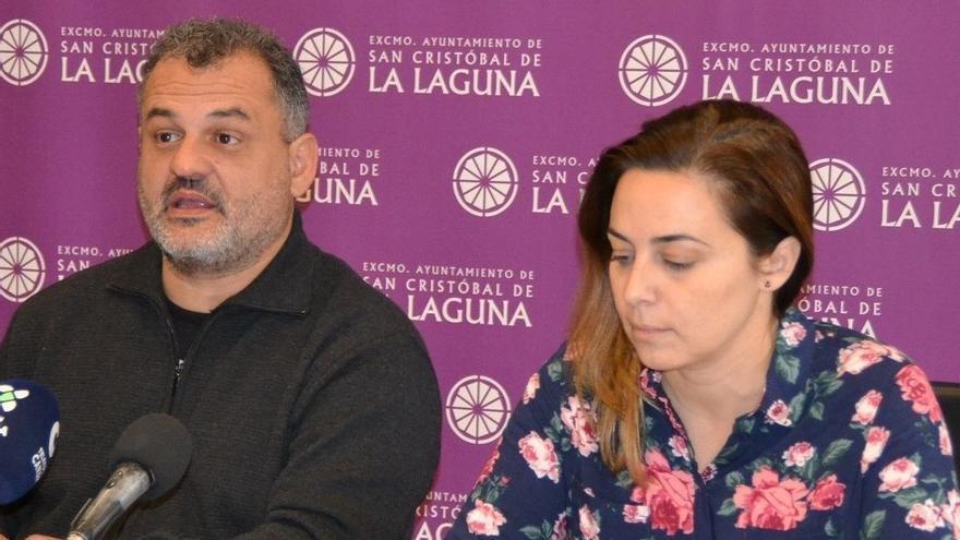 José Alberto Díaz, alcalde de La Laguna, y Candelaria Díaz, concejala de Urbanismo