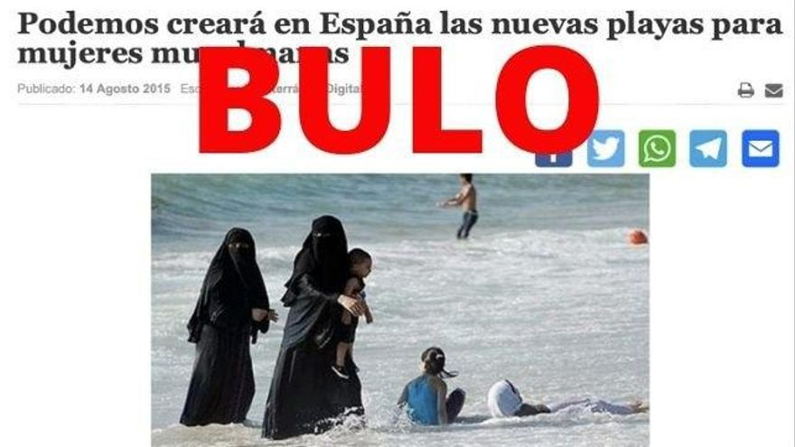 """Bulo asegurando que """"Podemos creará playas musulmanas"""""""