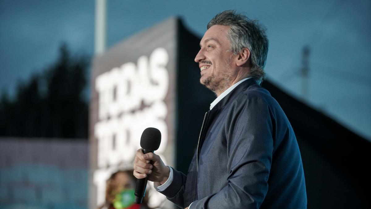 El jefe del bloque del Frente de Todos, Máximo Kirchner.