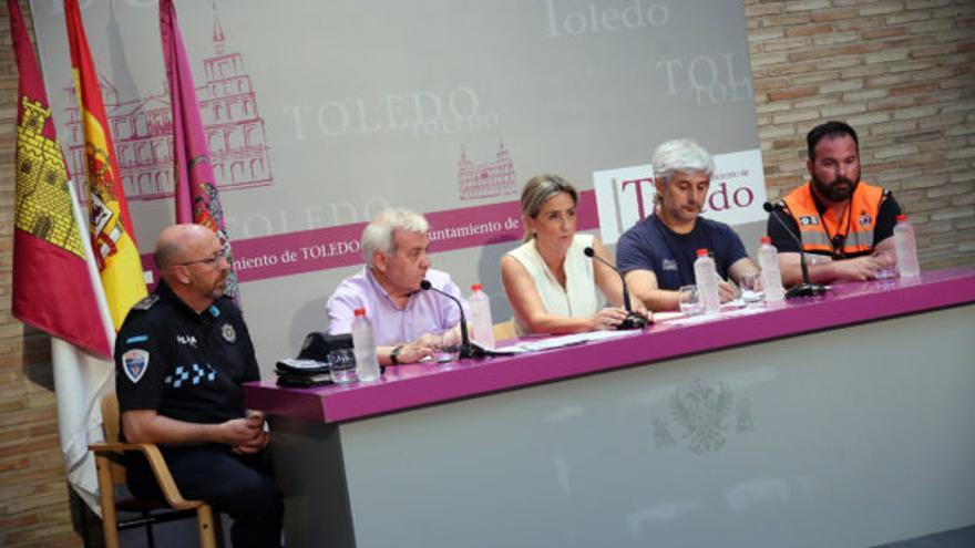 Rueda de prensa sobre el dispositivo de seguridad puesto en marcha por el incendio iniciado el pasado viernes FOTO: Ayuntamiento de Toledo