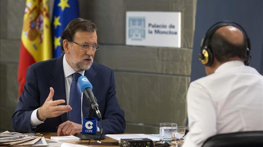 Rajoy en la entrevista en la que criticó al Gobierno de Syriza.