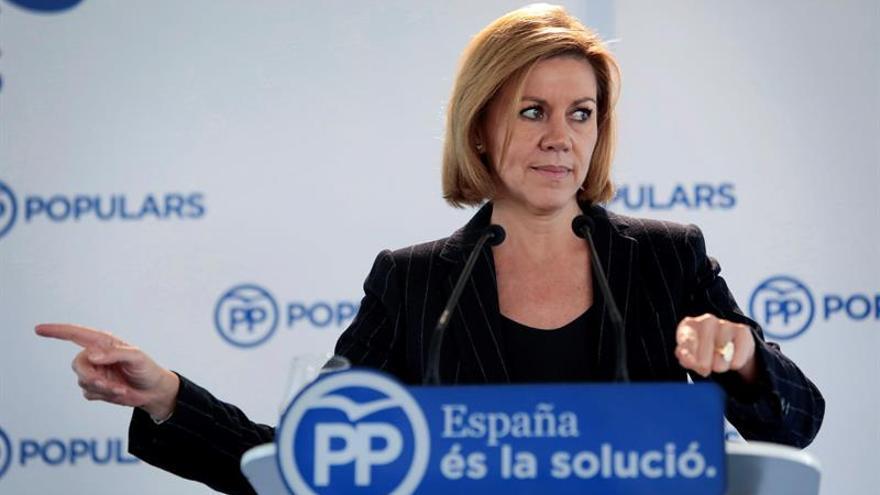 """Cospedal: """"Posiblemente habría que haber actuado de otra forma en Cataluña"""""""