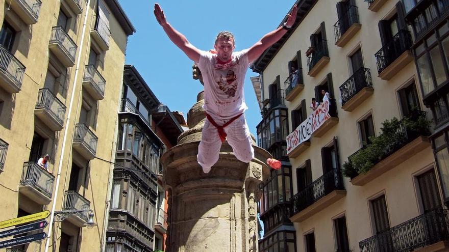 Una imagen del cartel que realizó en 2012 el Ayuntamiento de Pamplona.