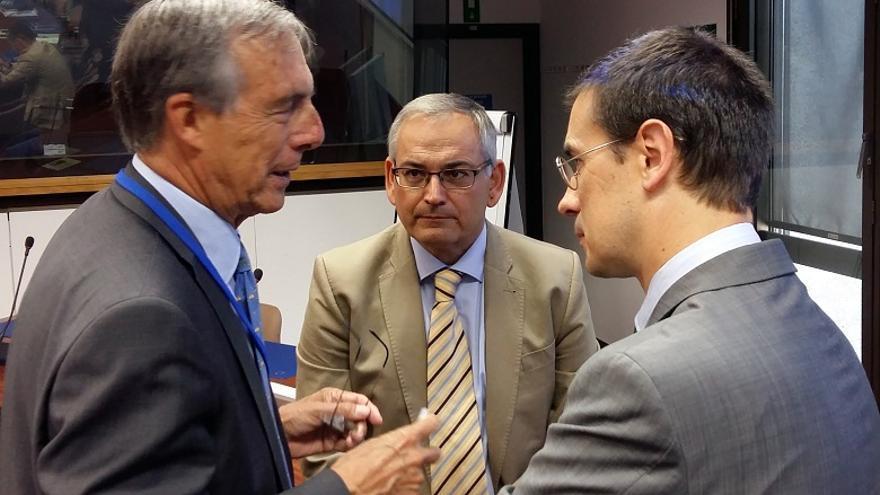 Imagen de Josep Vicent Boira en su visita a Bruselas