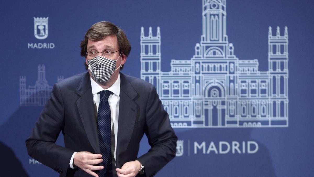 El alcalde de Madrid, José Luis Martínez-Almeida, tras la convocatoria de elecciones en Madrid.