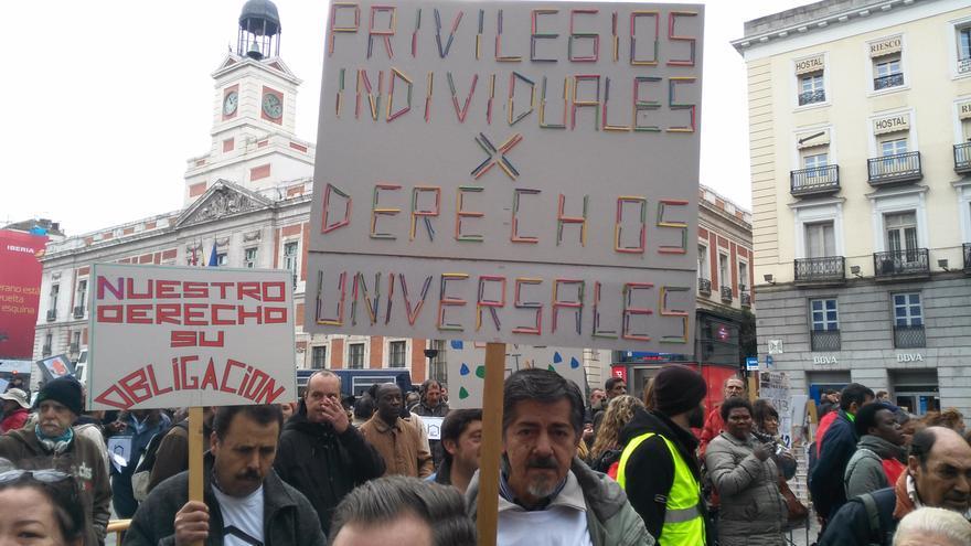 Movilización en defensa de los derechos de las personas sin hogar