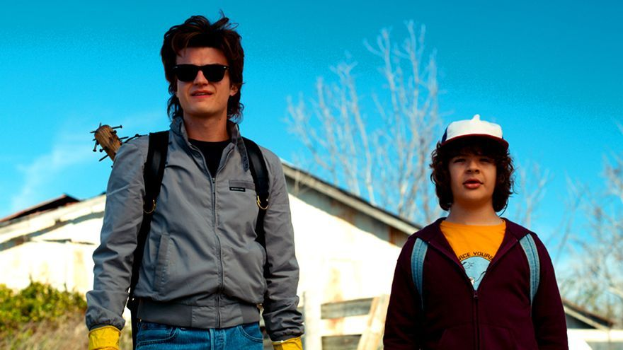 Steve y Dustin, en la segunda temporada de Stranger Things