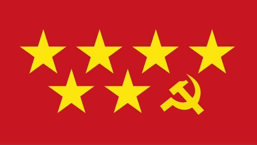 La nueva bandera de la Comunidad de Madrid si gobierna la izquierda, según Ciudadanos