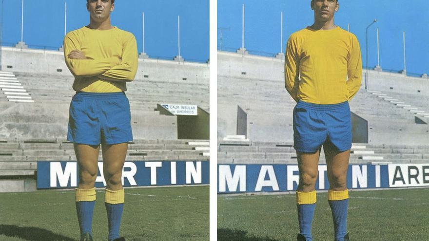 Tonono y Germán Dévora, exjugadores de la Unión Deportiva Las Palmas.