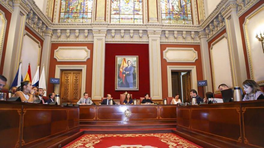 Pleno del Ayuntamiento de Santa Cruz de Tenerife.