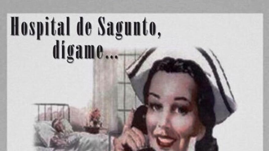 El cartel del Hospital de Sagunto objeto de la polémica
