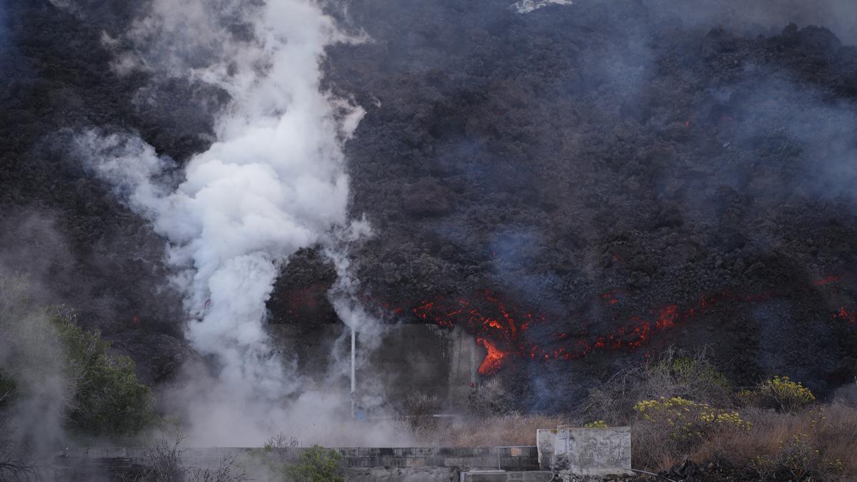 Avance de la lava en La Palma.