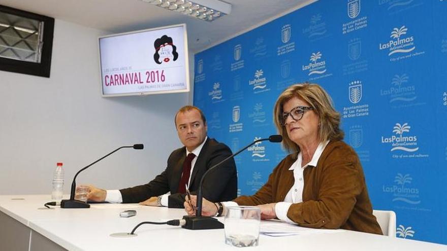 El alcalde de Las Palmas de Gran Canaria, Augusto Hidalgo, y la concejal Inmaculada Medina