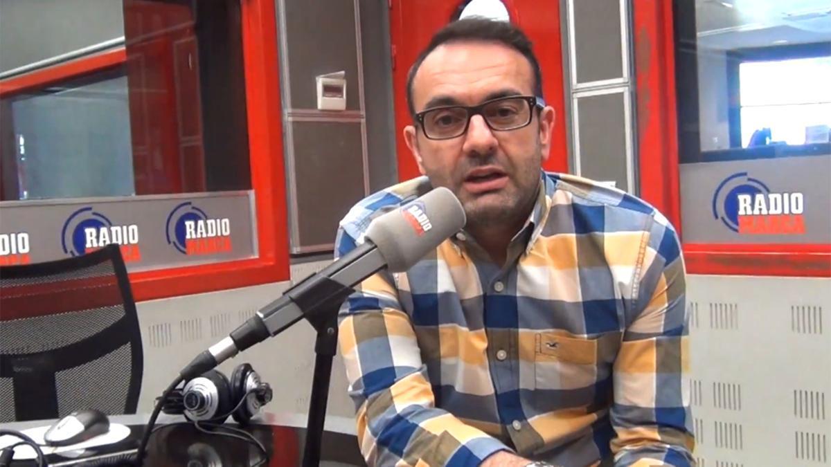 Edu García, en el estudio de Radio Marca