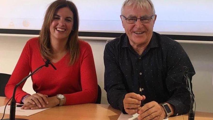 Sandra Gómez (PSPV) y Joan Ribó (Compromís)