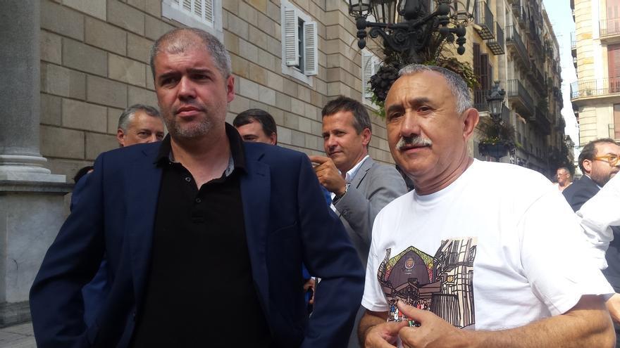 Sordo (CC.OO.) y Álvarez (UGT) rechazan el terrorismo y defienden la convivencia