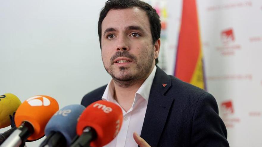 """Garzón (IU) cree que audios de Villarejo reflejan """"problema serio"""" del Estado"""