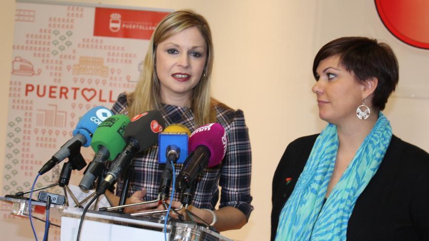 La consejera de Fomento, Elena de la Cruz, y la alcaldesa de Puertollano, Mayte Fernández