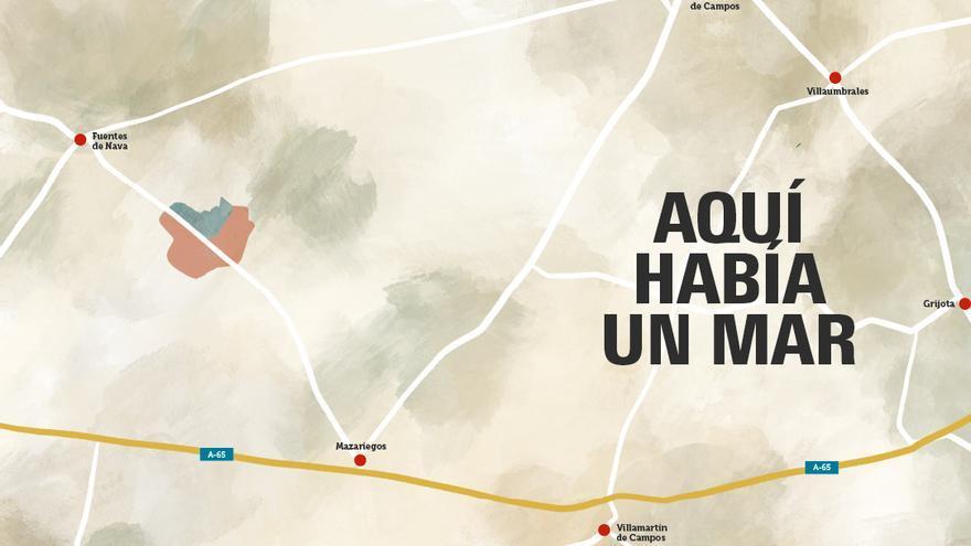 Así era el 'mar' que había a 12 km de Palencia