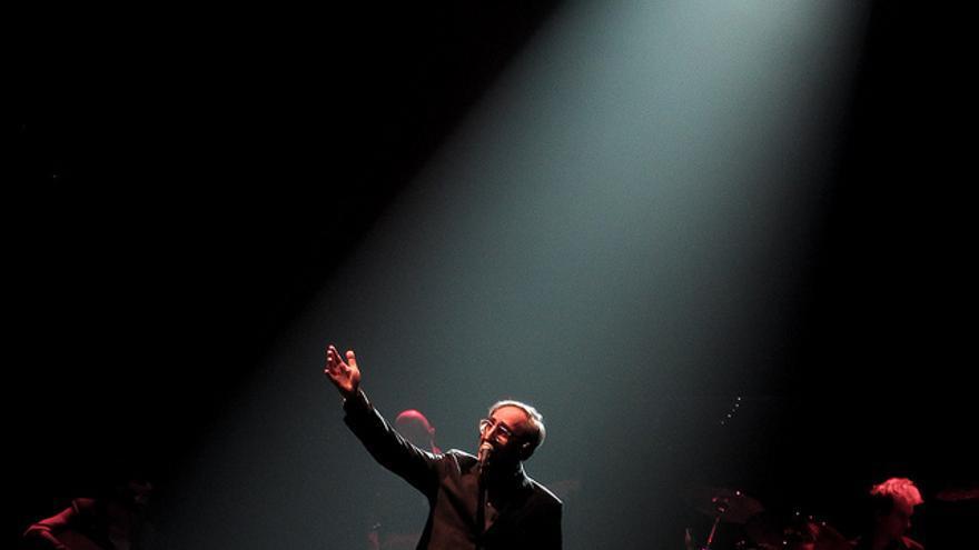 Franco Battiato durante un concierto en Milán en 2012