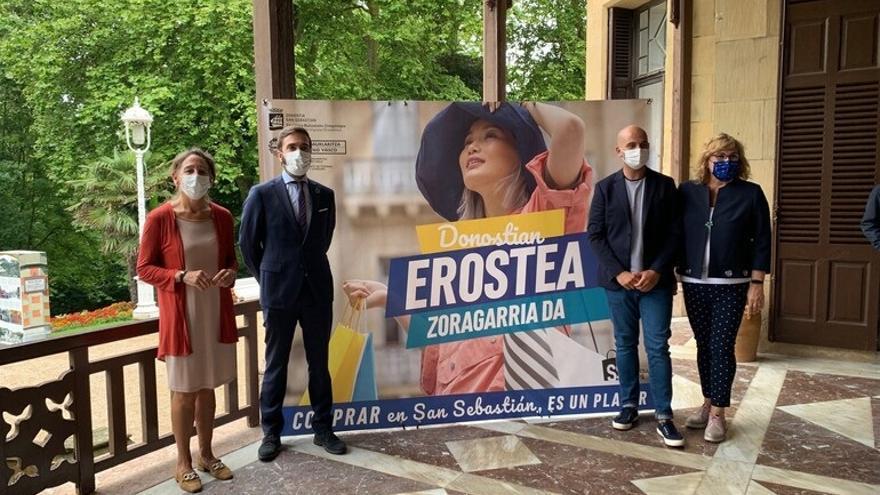 Presentación de la campaña 'Comprar en San Sebastián es un Placer'