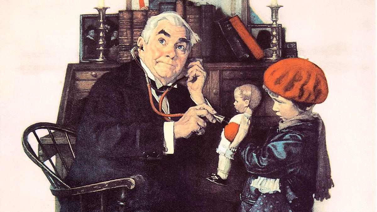 Doctor and Doll - Norman Rockwell, 1929