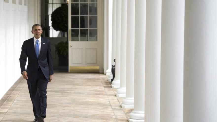 Obama llega al Congreso para dar su discurso sobre el Estado de la Unión