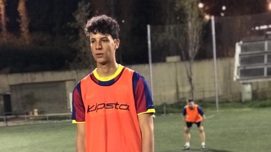 Brahim durante un entrenamiento