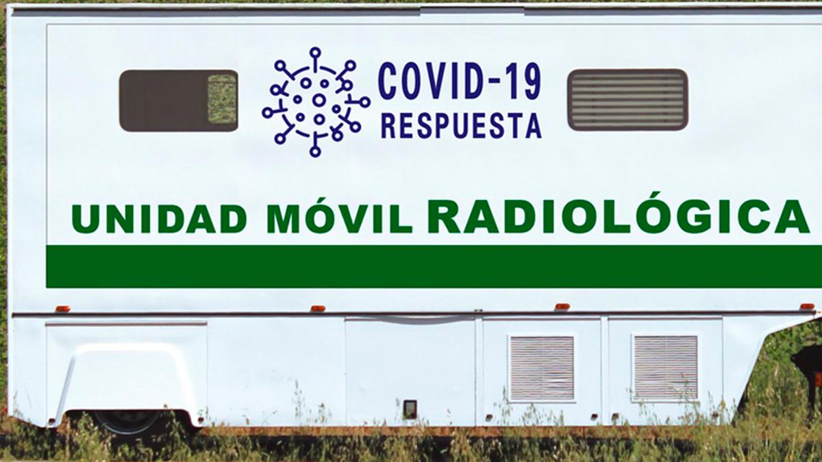Una de las unidades móviles reconvertida para pruebas de Covid-19.