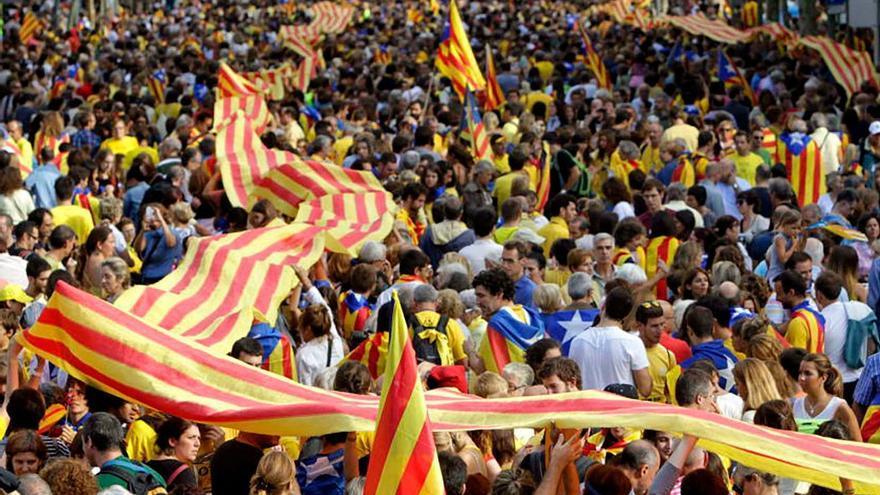 Manifestación por la independencia de Cataluña. (EFE)