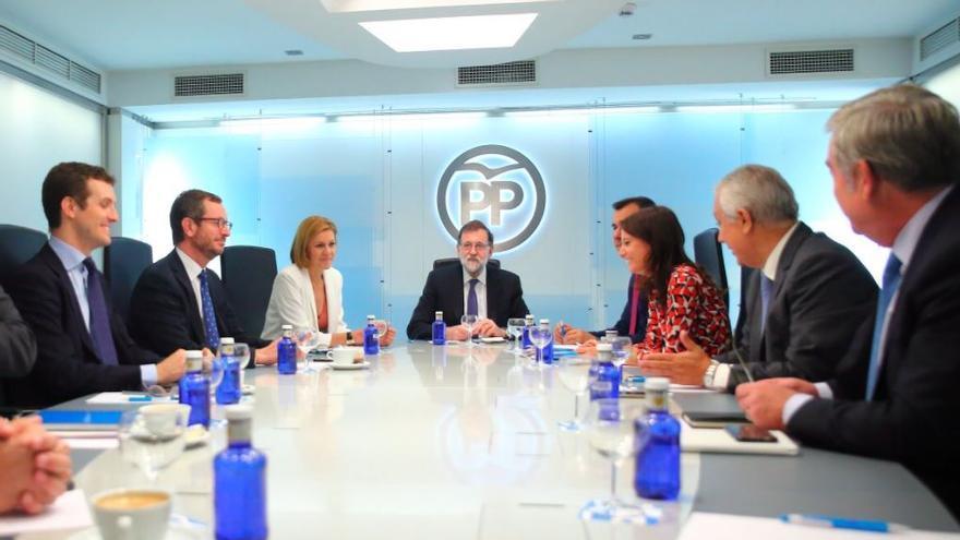 Mariano Rajoy preside la reunión del Comité Nacional de Dirección del PP.