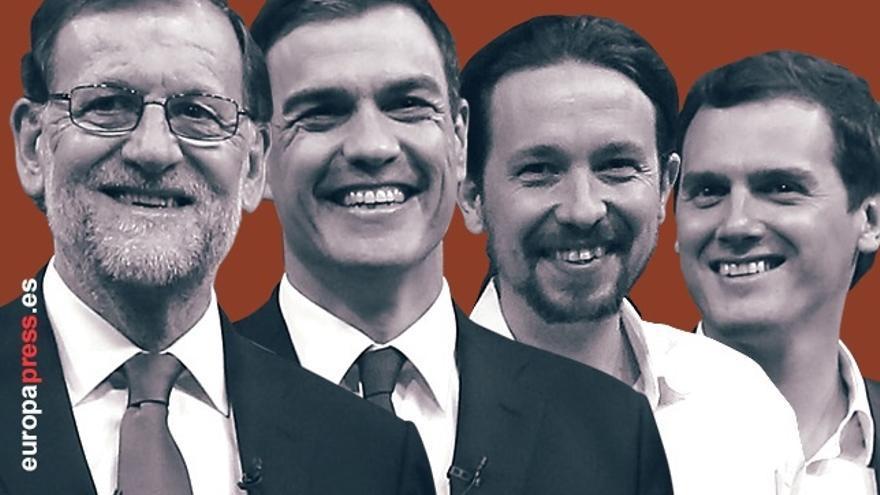 Rajoy se reunirá hoy con Albert Rivera y Pablo Iglesias y el miércoles cerrará las consultas con Pedro Sánchez
