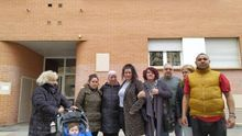 Vecinos del barrio de San Jorge de Pamplona afectados por el fondo buitre Testa Residencial