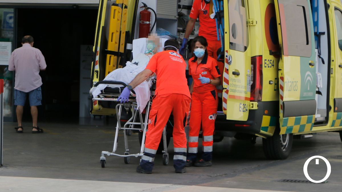 Zona de urgencias del Hospital Reina Sofía.