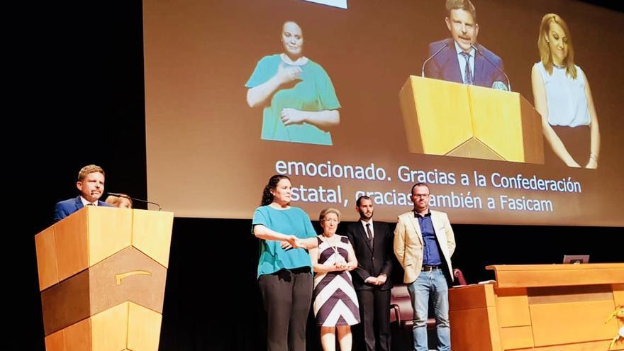 Intervención de David Pérez, concejal en Arona, en el acto celebrado en Bilbao