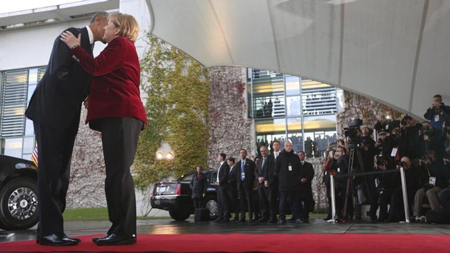Merkel recibe a Obama en la Cancillería en su última visita a Europa